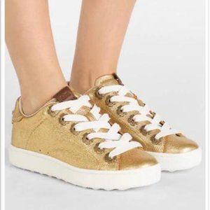 Coach golden sneakers